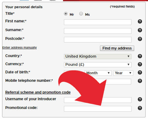 Where to put the betclic promotional code