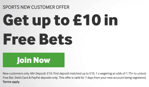 Betway £10 Free Bet