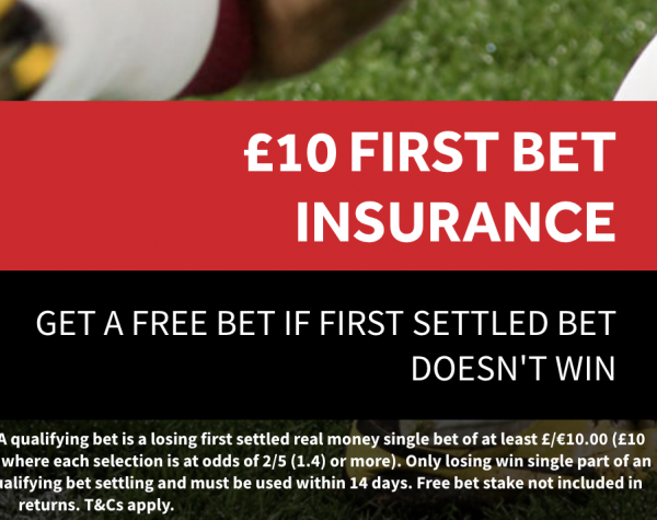 Genting £10 First Bet Insurance