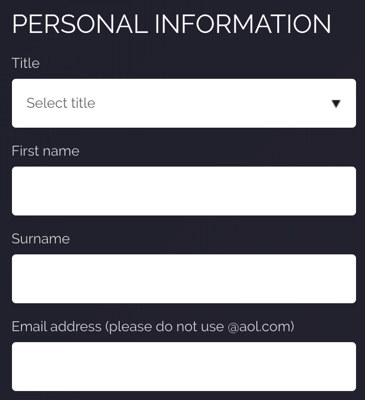 JetBull Registration Form