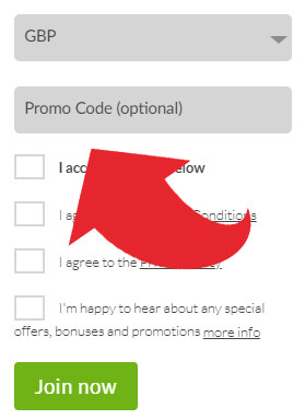 Mansion Casino Promo Code Box